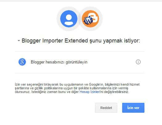 Blogger importer extented Blogger WordPress'e aktarma