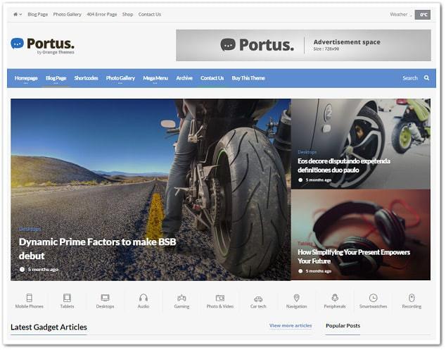 Wordpress teknoloji teması portus