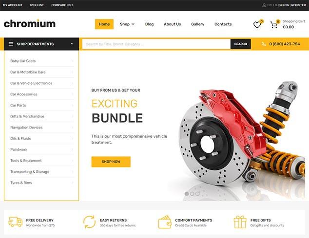 Chromium - WordPress E Ticaret Teması