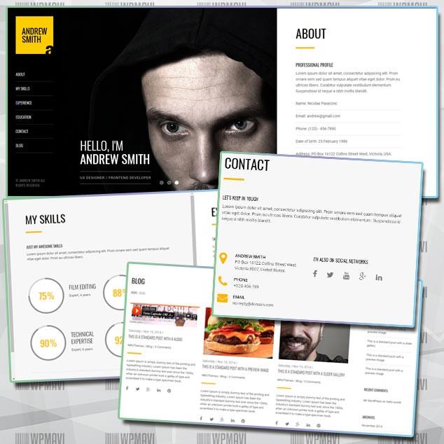 MEE WordPress CV Web Sitesi Sitesi Teması