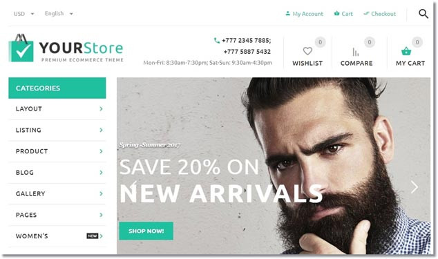 Wordpress E-Ticaret Temaları - YourStore
