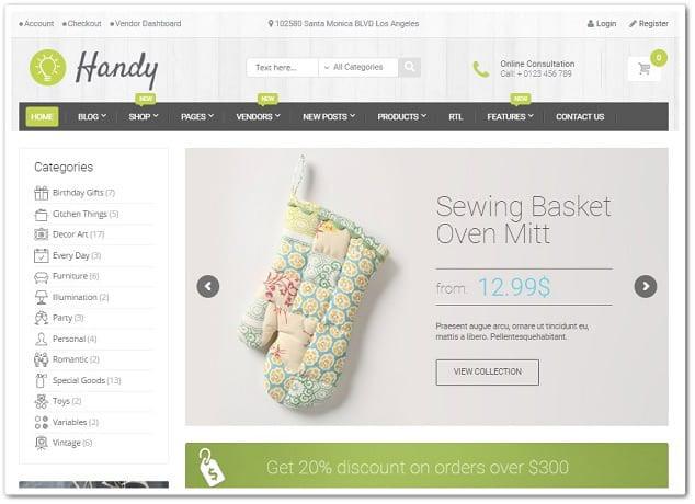 Wordpress E Ticaret Teması Handy