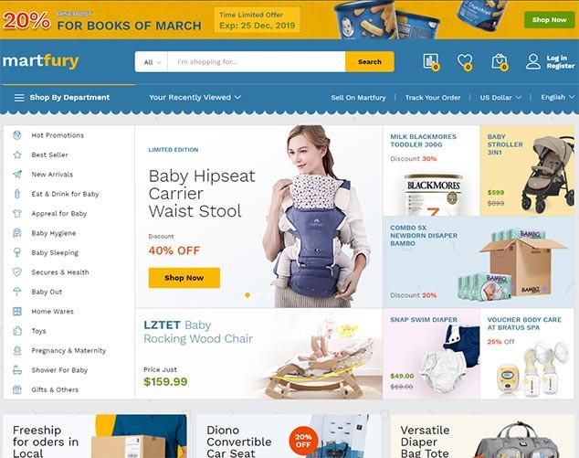 Martfury - WordPress E Ticaret Tema