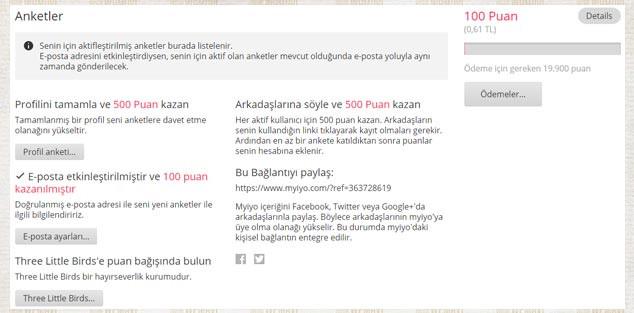 Anket Doldurarak Para Kazandıran Siteler - Myiyo Puan Sistemi