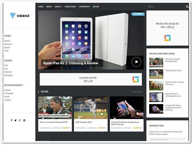 Wp video temaları - videoz wp video teması