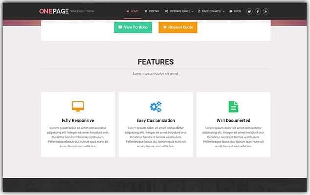 OnePage - Seo Uyumlu Portföy Teması