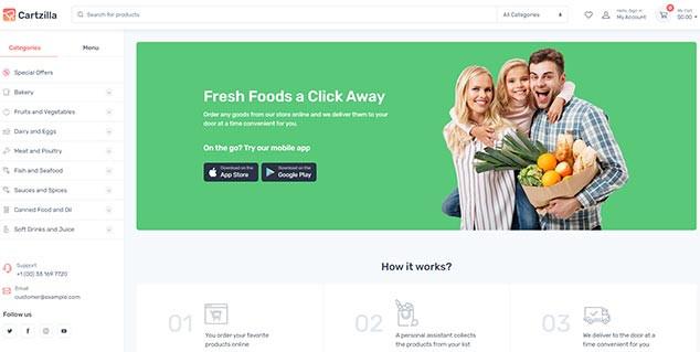 Cartzilla - WordPress Satış Teması