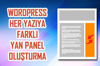 WordPress Her Yazıya Farklı Yan Panel Oluşturma