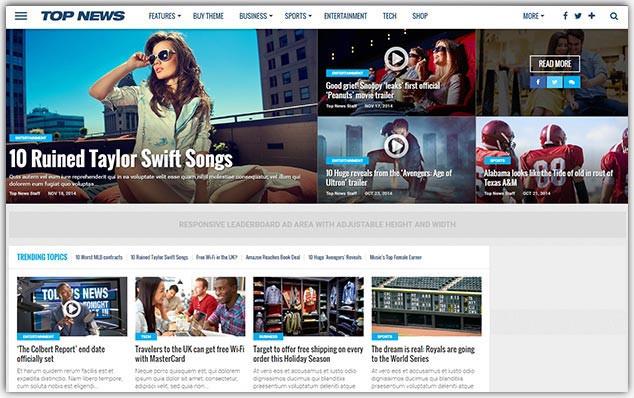 TopNews - Seo Uyumlu Magazin Teması