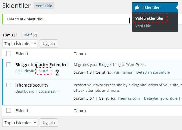 Blogger importer extented Blogger WordPress'e taşıma