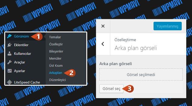 WordPress Arka Plan Değiştirme - Arka Plan Resmi Değiştirme
