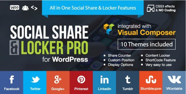 WordPress Sosyal Medya Paylaşım Eklentisi Social Share & Locker Pro