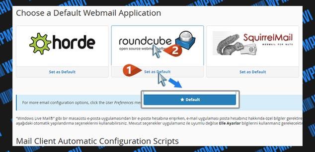 Şirket Maili Açma - Varsayılan WebMail Uygulaması