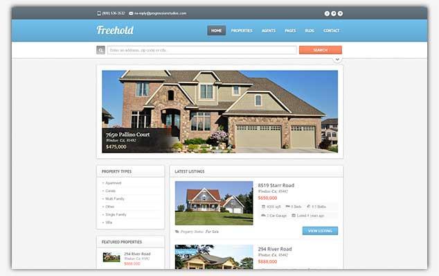 FreeHold - WordPress Emlak Teması