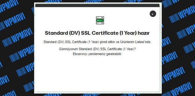 Godaddy SSL Kurulumu SSL Sertifikası Hazır