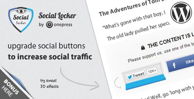 WordPress Sosyal Paylaşım Eklentisi - Social Locker