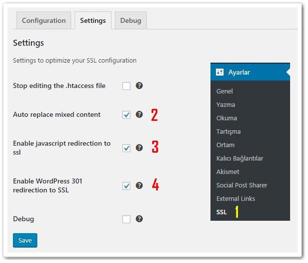 Wordpress SSL Kurulumu - Really Simple SSL Ayarları