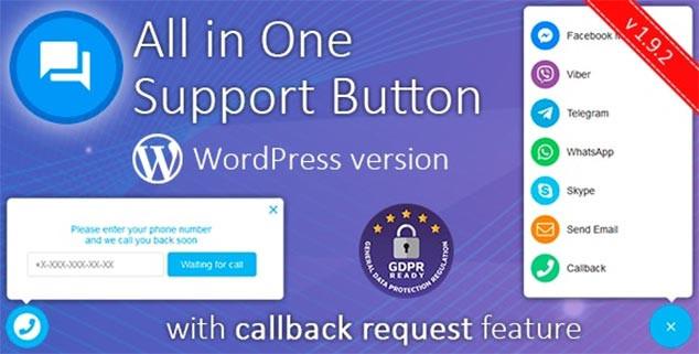 All in One Support Button WordPress Canlı Destek Sistemi