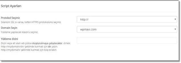 Wordpress Kurulumu Nasıl Yapılır - Protokol Nasıl Seçilir