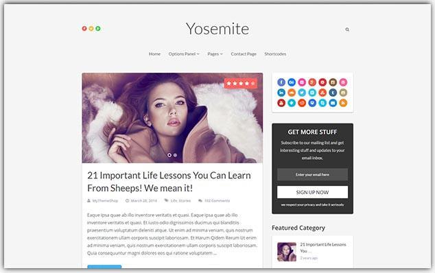 Yosemite - Seo Uyumlu Moda Blog Teması