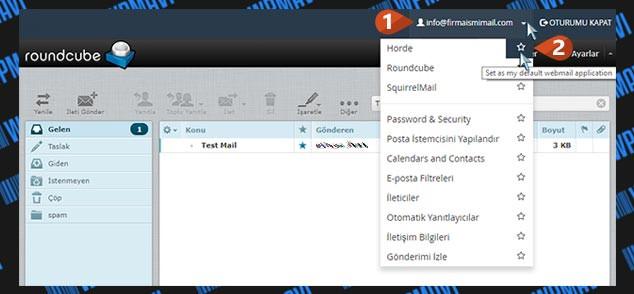 Şirket Maili Açma - Varsayılan WebMail Uygulaması Değiştirme