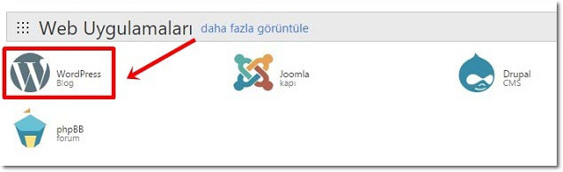 Godady WordPress Kurulumu - cPanel >> Web Uygulamaları >> WordPress