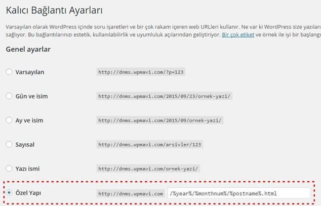 Blogger URL Yapısı - blogger wordpress taşıma