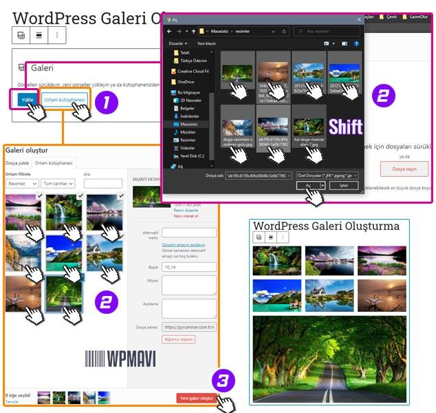WordPress Galeri Oluşturma Adım 2