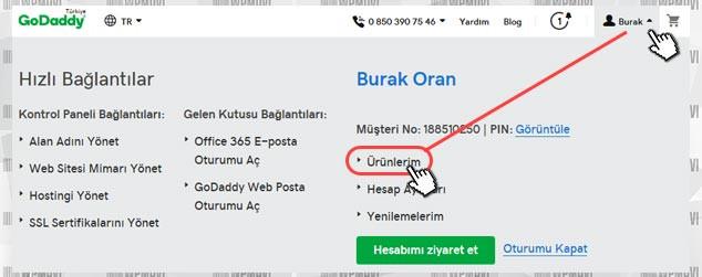 CV ve Portföy Sitesi Kurmak - Ürünlerim Sayfasına Giriş