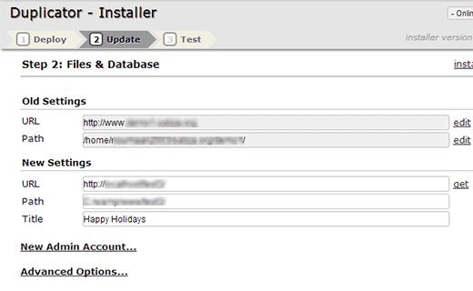 duplicator-url-degistirme-Domain Değiştirme