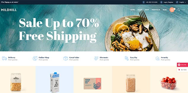 Mildhill - WordPress E Ticaret Teması