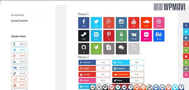 AccessPress Social Pro Sosyal Paylaşım Butonları