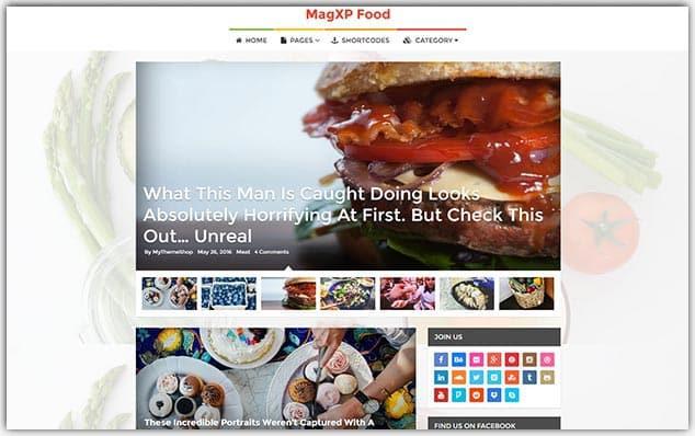 MagXP - Seo Uyumlu Yemek Blog Teması