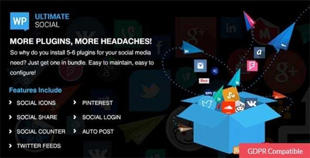 WP Ultimate Social - WordPress Sosyal Paylaşım Eklentisi