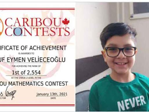 8 Yaşındaki Yusuf Eymen Velieceoğlu, Uluslararası Matematik Yarışmasında Dünya Birincisi Oldu