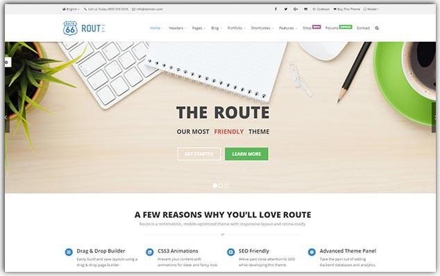 Route - Seo Uyumlu Porföy Teması