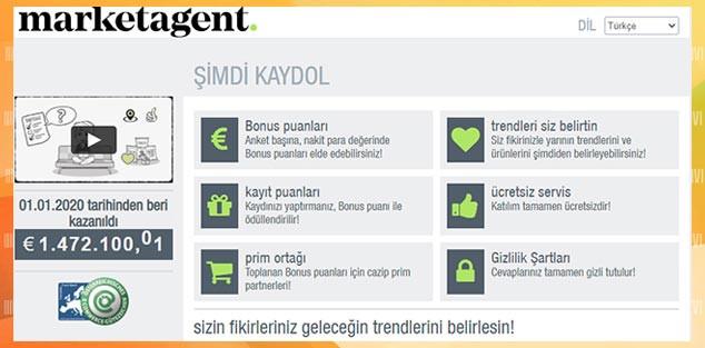 Anket doldurarak Para Kazanma Sitesi - MarketAgent