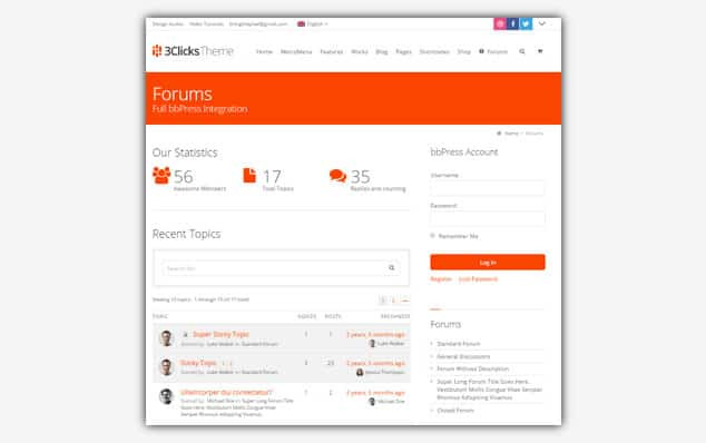 3Clicks - (WordPress Forum Teması)