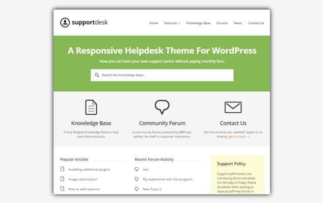 Support Desk - (WordPress Soru Cevap Teması)