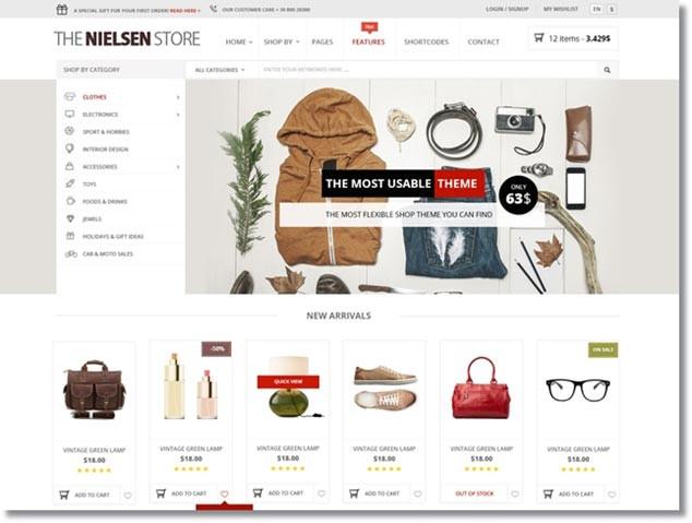 Wordpress E-Ticaret Teması - Nielsen