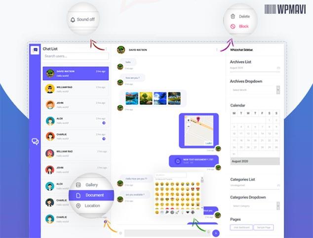 WhizzChat WordPress Live Chat Eklentisi Özelliker