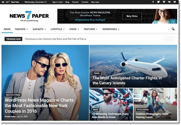 Wordpress Adsense Teması - NewsPaper
