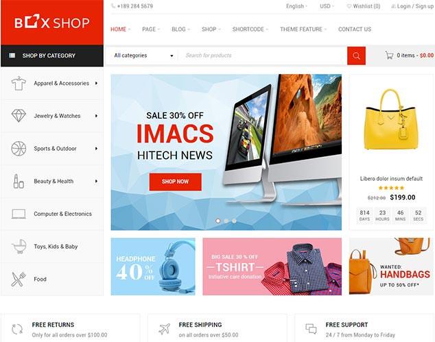 BoxShop - WordPress WooCommerce Tema