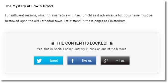 Wordpress Begen Butonu ile İçeril Kilitleme