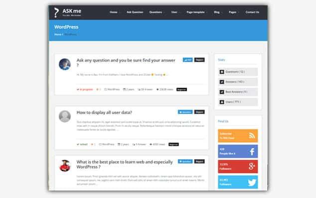 Ask Me - (WordPress Soru Cevap Teması)