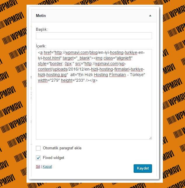 Wordpress Resme Link Ekleme