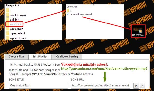 WordPress Arka Plana Müzik Ekleme - Sunucuya Müzik Yükleme