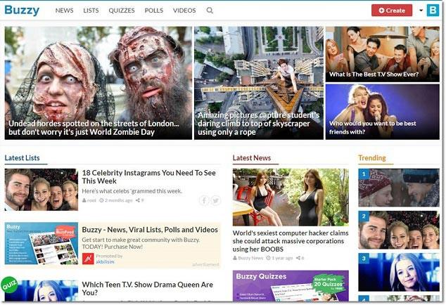 Buzzy - WordPress Sosyal Medya Teması