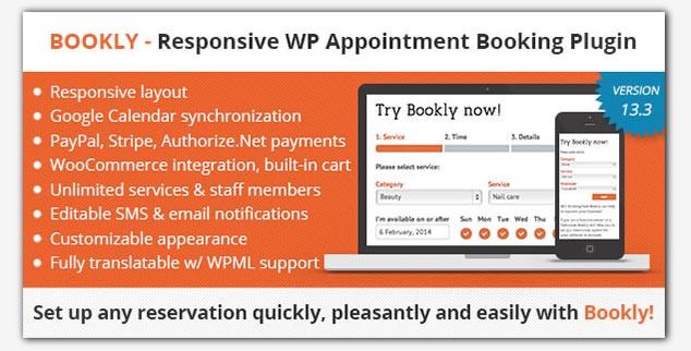 Bookly WordPress Rezervasyon Eklentisi
