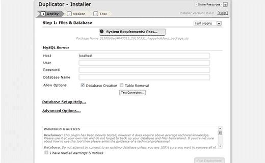 duplicate-yükle-Domain Değiştirme